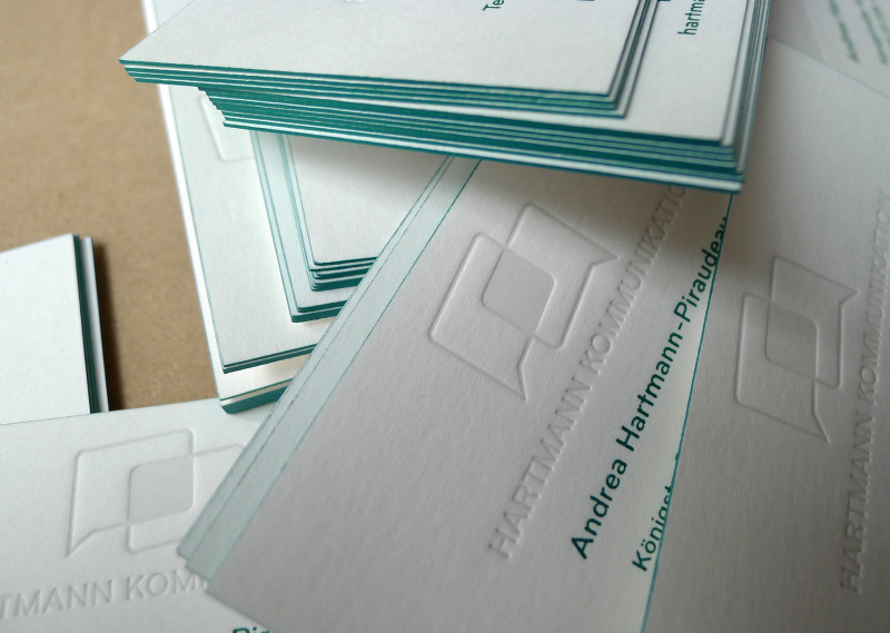 LETTERPRESS PRINTING OF THE BUSINESS CARD