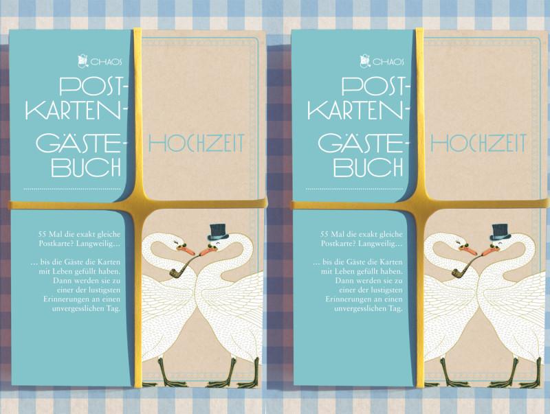 Chaos Postkarten Gästebuch